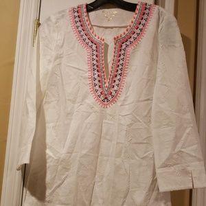 Lilly pulitzer xs white cotton shirt